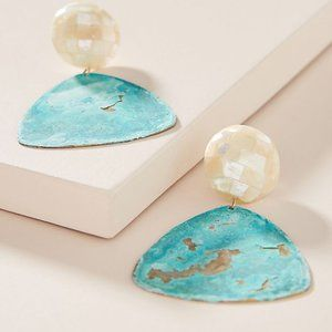 Anthropologie Catriona Pearl Drop Earrings NEW